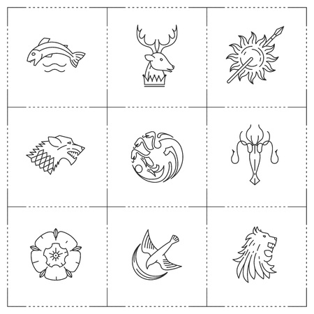 Great kingdoms houses heraldic.