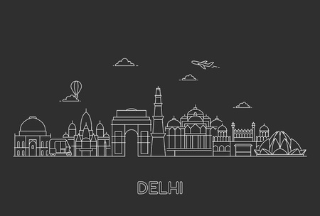 New Delhi skyline.