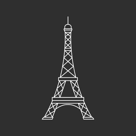 Eiffel tower illutsration Illustration