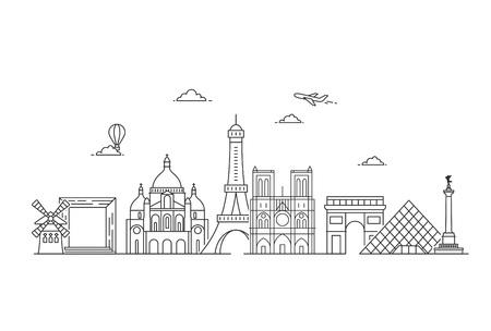 Orizzonte di vettore di Parigi.