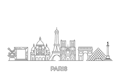 Paris vector skyline. Ilustrace