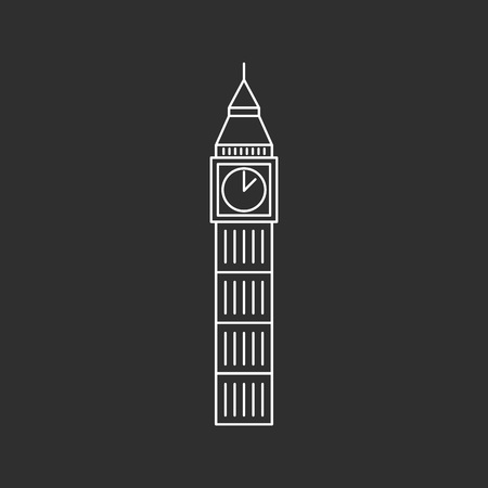 Big Ben icon. Outline vector Illustration on the white background.
