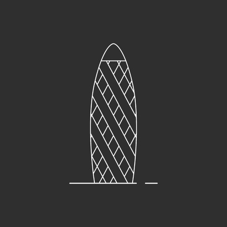 Skyscraper icon. Outline style vector icon for web design.