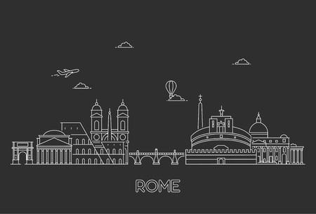 Rome skyline, Italy