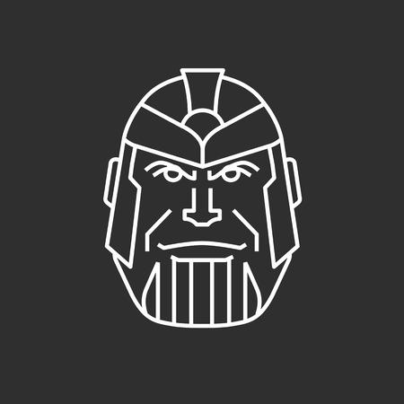 Halloween mask. Hero mask