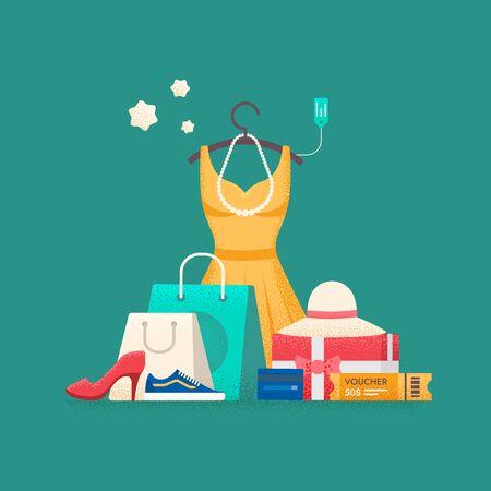 Shopping concept. Flat vector illustration. Reklamní fotografie - 125245213