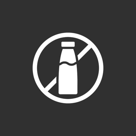 Lactose free icon. Food label. Vector illustration