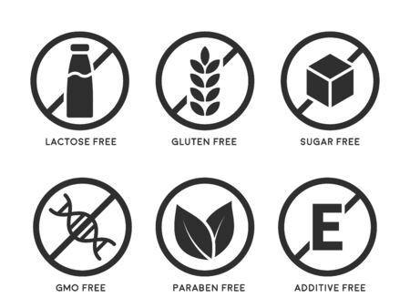 Set of product icons Illustration