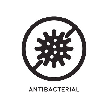 Antibacterial and antiviral defense. Germs and microbe icon. Vector illustration Imagens - 145749166