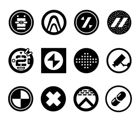 Abstract futuristic  . Sci fi icons. Vector illustration