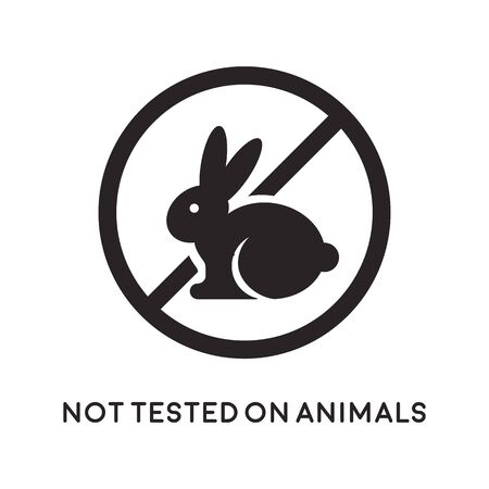 Not tested on animals icon. Vector illustration.