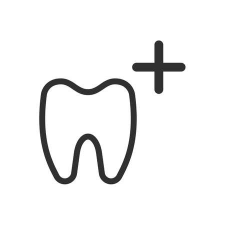 Tooth line icon.