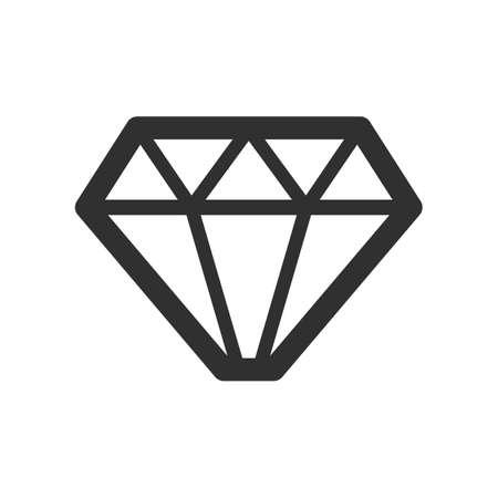 Crystal stone line icon. Ilustrace