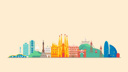 Barcelona city. Travel and tourism background.