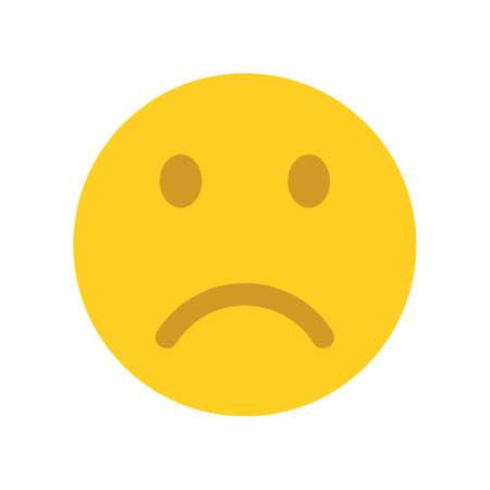 Upset emoji face. Emoticons icon.