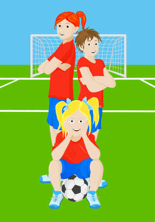 soccer girls Vector