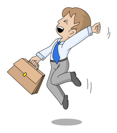 salary man: successful businessman Illustration