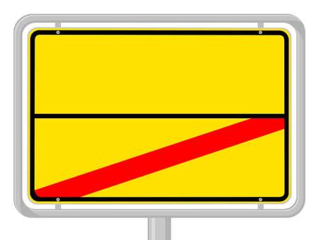 ortsschild: town sign