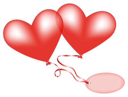 hart ballonnen Vector Illustratie