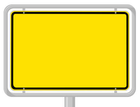 yellow note: Town sign Illustration