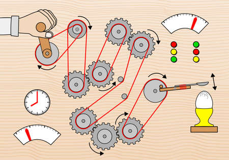 illustration of a breakfast egg breaking machine Stock Vector - 18784899