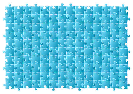 illustratiton of a blue jigsaw puzzle  Vector