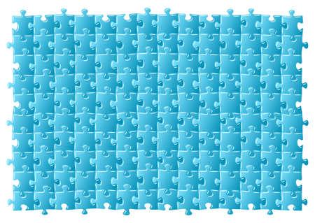 illustratiton of a blue jigsaw puzzle  Vector