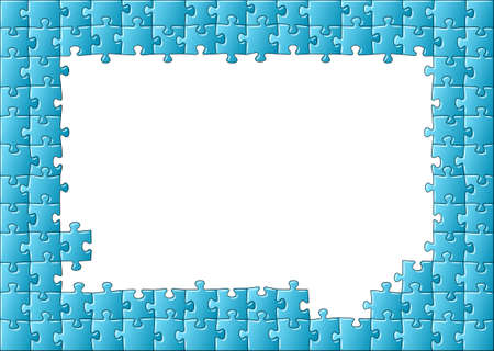 illustration of a jigsaw puzzle frame Vector