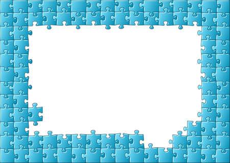 puzzle piece: ilustraci�n de un marco rompecabezas Vectores
