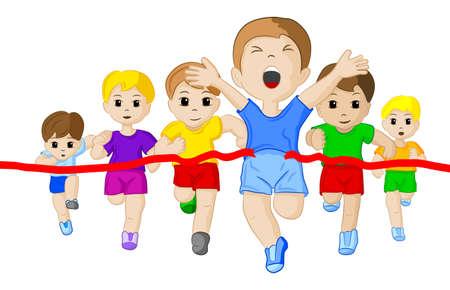 illustratie van een hardloopwedstrijd Stock Illustratie