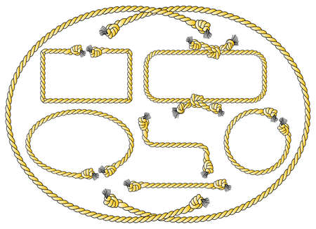 rope vector: vector illustration of a collection of several rope frames