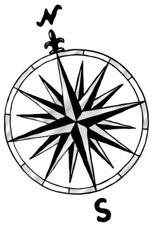 yıldız: Bir pusula vektör çizim gül