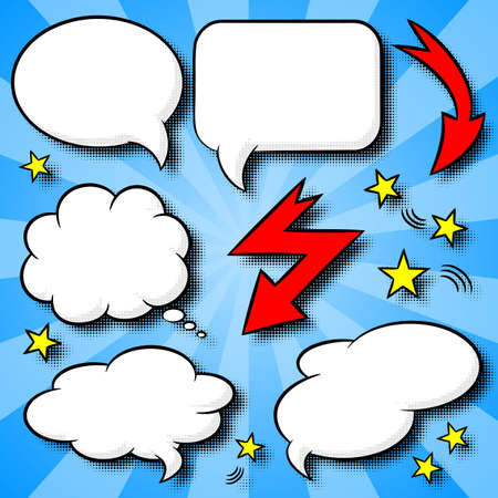 speech bubble: vector illustration of a collection of comic style speech bubbles