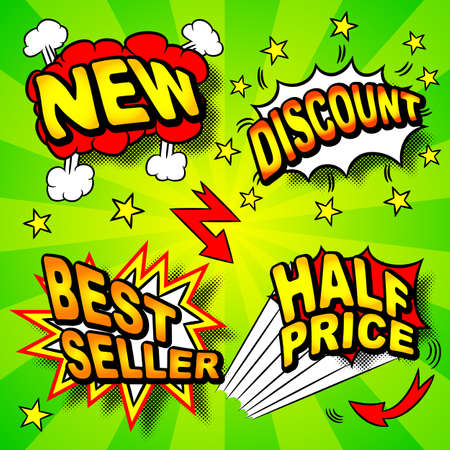 illustration of colourful cartoon labeling  Illustration
