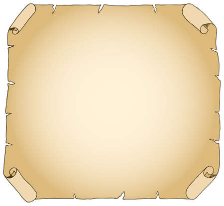 vector illustration of an old brown parchment