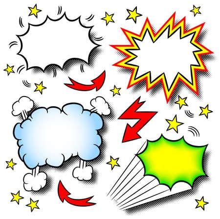 vector illustratie van een aantal cartoon explosies