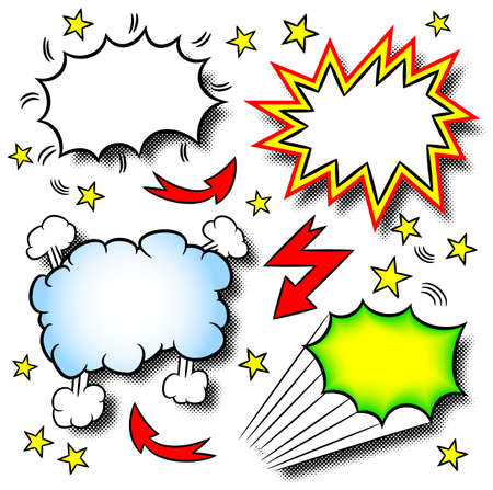 vector illustration of some cartoon explosions Stock Vector - 20179962
