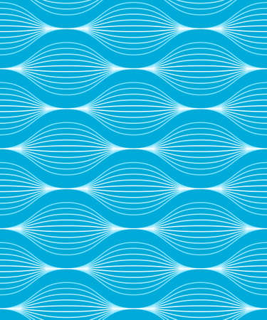 illustration of a blue seamless wave pattern with two global colors  Vector