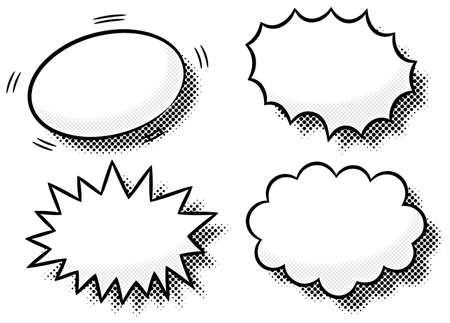 illustration of comic effect bubbles  Vector