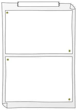 illustration of some paper frames to write on  Stock Vector - 20745617