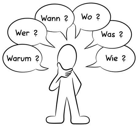 illustration d'un homme qui pose des questions