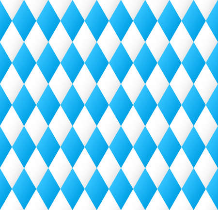 illustration of a seamless diamond pattern in blue and white  Vector