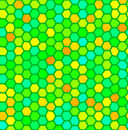 reptile skin: illustration of a colorful seamless scale pattern background