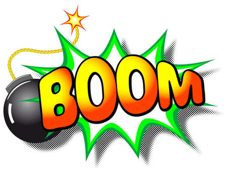 illustration of a cartoon explosion with the word boom Stock Vector - 21306081