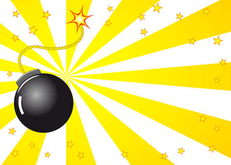 blank bomb:   illustration of a cartoon explosion with a bomb