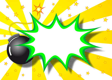 illustration of a cartoon explosion with the word boom Stock Vector - 21783596