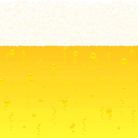 horizontally: vector illustration of a horizontally seamless bubbling beer background Illustration