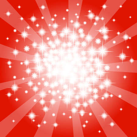 vector illustration of a abstract red star background  Vector