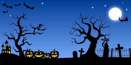 vector illustration of a spooky halloween background Illustration