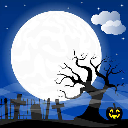 cartoon vampire: illustration of bats against the full moon